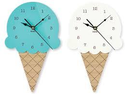 the ice cream wall clock delicious nursery décor cream wall