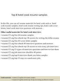 Cook Resume Examples Cook Cover Letters