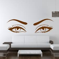 compare prices on eyes wall art online shopping buy low price sexy eyes wow modern beauty salon wall art stickers decals home diy decoration wall mural removable