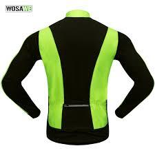 waterproof softshell cycling jacket wosawe thermal cycling jacket winter warm up bicycle clothing