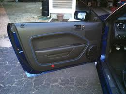 mustang door panel painted interior door panel ford mustang forum