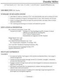 Sample Resume English Teacher by Home Design Ideas Sample Resume Esl Teacher Chronological Resume
