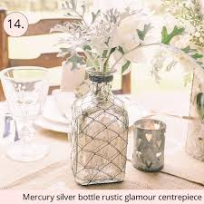 Galvanised Vases 15 Wedding Centrepieces For 15 Or Less