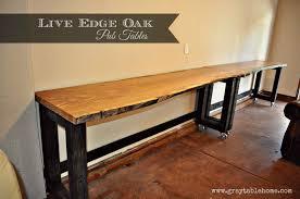 Live Edge Bar Table Ana White Diy Convertible Bar Pub Table Diy Projects
