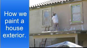 exterior house preparation and spray painting