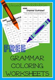 free grammar and coloring worksheets free homeschool deals