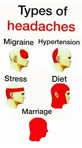 Migraine Meme - types of headaches migraine hypertension stress diet marriage