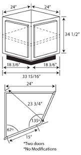 unfinished corner base kitchen cabinet albany 1cherry bae 24wx34 1 2hx24d