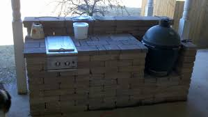 Dcs Outdoor Kitchen - outdoor bar with big green egg and a dcs sideburner outdoor