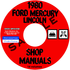 1980 ford lincoln mercury car repair manual u2013 all models