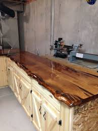 Kitchen Counter Top Ideas Live Edge Maple Slab Countertop Happy Home Pinterest