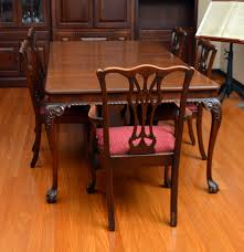 Chippendale Dining Room Set by Vintage Chippendale Style Mahogany Dining Table And Chairs Ebth