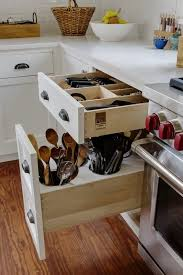 custom kitchen cabinet ideas custom in drawer knife block and utensil storage drawer in this