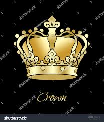 crown golden crown king isolated on stock illustration 417461176