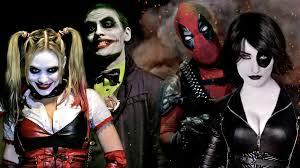 best joker halloween costumes joker u0026 harley quinn vs deadpool u0026 domino super power beat down