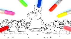 how to color this drawing peppa pig coloring book with colored