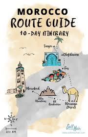 Morocco Africa Map by Morocco Route Guide A 10 Day Travel Itinerary Random Travel