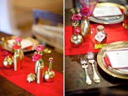 Red And Gold Reception Decoration Modern Elegant Red Pink U0026 Gold Wedding Inspiration Every Last