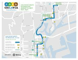 Metro Route Map by Ciclavia San Pedro Meets Wilmington Presented By Metro