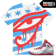 Flag Jordan Chicago 10 T Shirt Match Chicago Flag Jordan Sneaker Match Tees