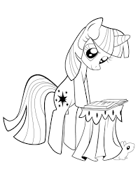 my little pony twilight sparkle reading coloring page my little