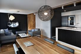dining room apartment dining room track lighting idea with beam