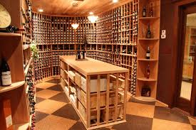corner baker rack wine cellar traditional with wooden wine cellars
