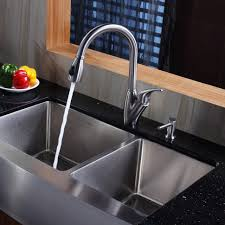 kitchen single hole kitchen faucet spring spout brushed nickel