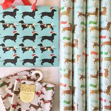 dachshund wrapping paper gift guide for dachshund via adomesticlife