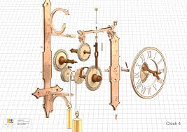 working projcet detail plans clock woodworking