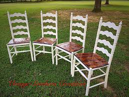 Refinishing Furniture Ideas Repurposed Ladder Back Chairs By Vintage Southern Creations