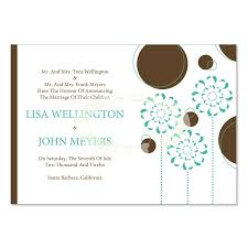 wedding announcements blue brown wedding announcement templates chocolate sky