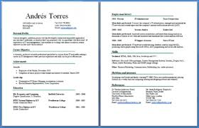 Sample Resume Headers by Sample Resume Format For Fresh Graduates Two Page Format 22 Two