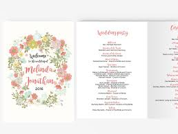 word template for wedding program wedding program booklet diy editable ms word template floral