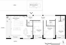 Plan De Travail Bois 3m by Plan Maison Moderne Toit Plat U2012 Ooreka