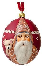 vaillancourt jingle gingerbread santa with teddy ornament