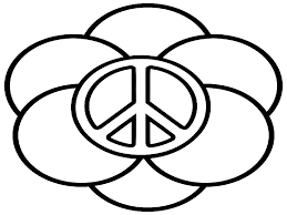 coloring pages of hearts and peace signs eliolera com