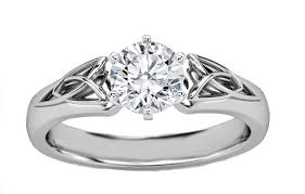 celtic rings meaning engagement ring triquetra celtic diamond engagement ring in 14k