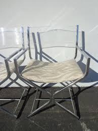 Lucite Rocking Chair Mid Century Modern Milo Baughman Chrome Lucite Directors Chairs