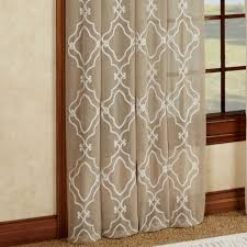 carlyle chain stitch embroidered window treatment