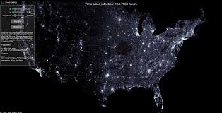 Continental Us Map Techory Com Regular Ramblings About Technology Map The Zombie Attack