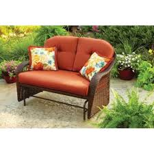 amazon com outdoor patio glider by better homes and gardens