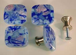 glass door pulls and knobs fused glass knobs u2013 blues color mix akb162611a u2013 decorative