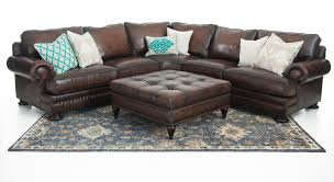 studded leather sectional sofa bernhardt foster 2 piece leather sectional weir s furniture