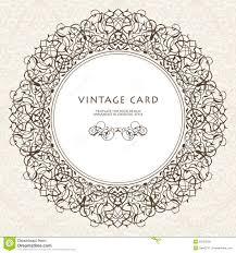 Victorian Design Decorative Ornate Frame In Victorian Style Stock Vector Image