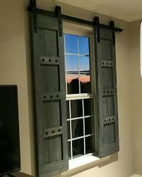 Interior Shutters For Windows Interior Window Barn Door Sliding Shutters Barn By Woodennail