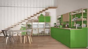 cuisine blanche et verte cuisine en bois blanche et verte minimaliste grenier avec des