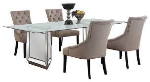 5 dining room sets nicolette silver mirrored dining room 5 set contemporary