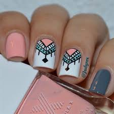 nail art pink and white nail art gallery