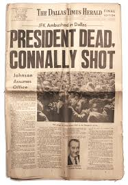 The Lot Dallas by Lot Detail John F Kennedy Newspaper From The Evening Edition Of